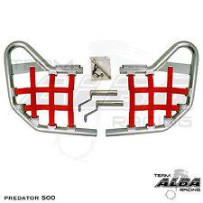 Predator 500 Polaris   Nerf Bars   Alba Racing     Silver Red 208 T1 SR