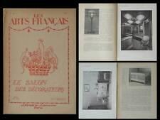 LES ARTS FRANCAIS n°28 1919  ART DECO, LOUIS SUE, JAULMES, O'KIN, HAMM, GALLEREY