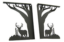 "Large 9"" Buck Deer Shelf Bracket Set"
