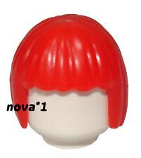 Lego Rojo Bob Cabello Mujer Niña Princesa Para Minifigura