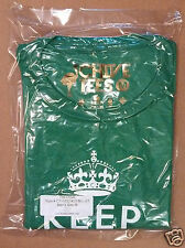 Mens Med *KEEP CALM AND CHIVE ON* shirt GOLD QR Medium UNOPENED IN CHIVE BAG NEW