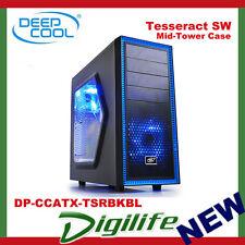 DeepCool Tesseract SW Mid Tower Chassis USB3.0 Black & Blue DP-CCATX-TSRBKBL