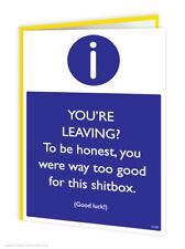 Leaving Work Job Goodbye Good Luck Greeting Card Funny Comedy Humour Cheeky Joke