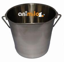 Seau inox pour chien, 3.8 litres