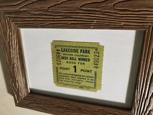 Rare Vintage Old Original Lakeside Amusement Park Skee Ball Tickets Denver CO