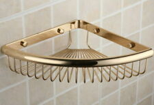 Bathroom Accessory Golden Brass Soap / Sponge Corner Shower Storage Basket