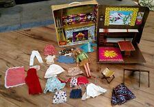 Vintage 1972 Barbie Mountain Ski Cabin Mattel #4283 Clothes+Doll 1968
