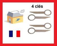 4 Clés clef extraction autoradio démontage Audi vw seat skoda ford mercedes Rnse