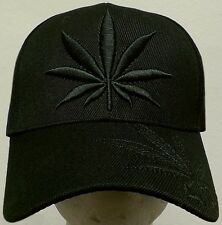 BLACK MARIJUANA 420 HIGH CANNABIS CHRONIC KUSH POT HEMP LEAF WEED PLANT CAP HAT