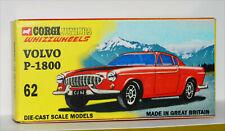 DISPLAY BOX FOR CORGI JUNIORS 62. VOLVO P1800  RED  -  FREE UK POST