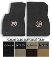 Cadillac XTS 2pc Velourtex Carpet Front Floor Mat Set - Choose Color & Logo