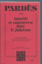65496 - Pardès : (12-1990) : Autorité et controverse dans le judaïsme