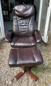 Ekornes stressless Cherry Red Leather Recliner Chair WE DELIVER UK
