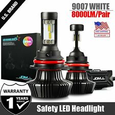 JDM ASTAR 8TH 8000LM 9007/HB5 LED Headlight Hi Low Bulbs White for Nissan Suzuki