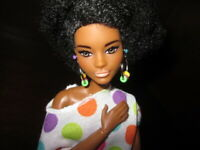 Barbie Made to Move Hybrid with Fashionista 105 Head Doll AA Afro OOAK Retired