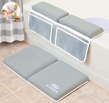 Bath Kneeler and Elbow Rest, Quick Dry Machine Washable Bath Kneeler with Elbow