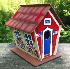 #1 hand crafted hand painted patriotic bird house