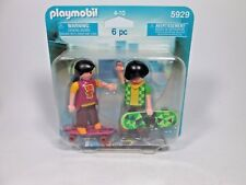 2010 Playmobil 5929 Duo Boy & Girl Skate Board Figure NEW In Package