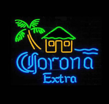 "New Corona Extra Palm Tree Beer Bar Cub Party Light Lamp Decor Neon Sign 17""x14"""