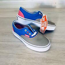 NEW VANS ERA TRI-TONE Grey Pink Blue Shoes Young Girls Sz 11