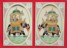 Indian Mughal Moghul King Queen Miniature Painting Artwork Artist Art Lover
