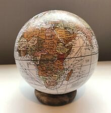 13 cm Wooden Mini Globe on Plinth