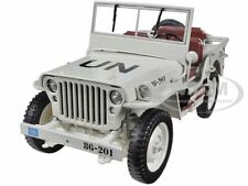 1/4 TON UN WW 2 JEEP VEHICLE BEIGE 1/18 DIECAST MODEL CAR BY WELLY 18036UN