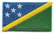 Solomon Islands Flag Embroidered Patch Iron-on Motif Art Good Luck Magic
