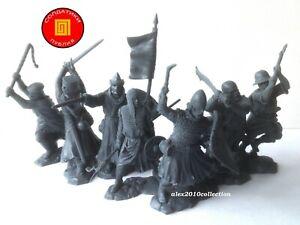 NEW!!! PUBLIUS-RUNEKRAFT,CRUSADERS,Templars,Hospitallers,7 rubber soldiers 1:32