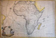 1783 - Carte ancienne de l'Afrique - Brion de la tour- Rare - Old map of africa