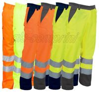 HIGH VISIBILITY TWO TONE WORK TROUSERS WITHE REFLECTIVE BANDS PAYPER CHARTER