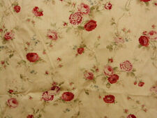 WAVERLY SONATA ROSE FLORAL RED/PINK/GOLD SHOWER CURTAIN