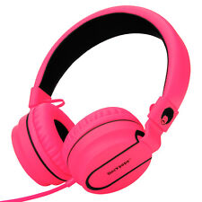 RockPapa Foldable Girls Kids Adults Headphones Headsets MP3/4 DVD iPod iPad Pink