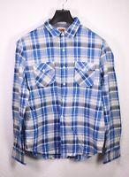 HB176 Levis Herren Hemd Shirt blau weiß kariert Gr. L  Langarm Standard Fit