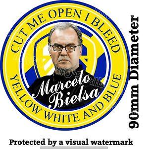 Leeds Bielsa Football static cling car window/glass sticker FREE domestic P&P