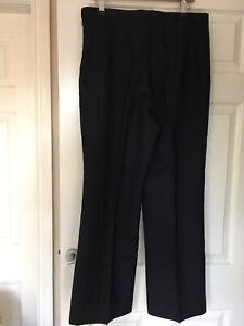 BNWT Alexandra PU6R Office Work Trousers in Navy Size 18 X 29L