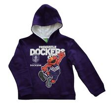 AFL FREMANTLE Dockers Elmo Hoodie Kids - Size 6 Yrs