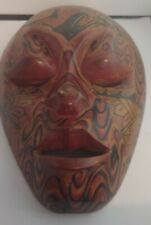 WOODEN MASK- UNIQUE RARE-WALL MOUNT