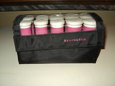 Remington H1012 Hot Rollers Curlers 10 Pink Travel Case Dual Voltage