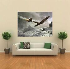 SPITFIRE MOUNTAINS PLANE JET NEW GIANT POSTER WALL ART PRINT PICTURE G183