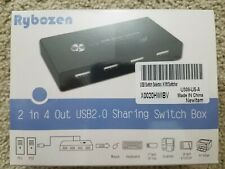 USB Switch Selector KVM Switcher for 2 PC Sharing 4 USB Devices One-Button