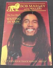 Rare Bob Marley and the Wailers Waiting In Vain Single Record Store Promo Poster
