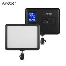 Andoer LED Video Light Panel 3300K-5600K LCD Display for Canon Nikon Sony DSLR