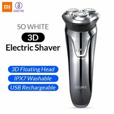 Original Xiaomi SO WHITE 3D Electric Razor Shaver Waterproof Dry Wet Shaving