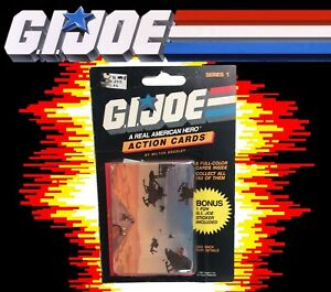 GI Joe Action Cards Series 1 pack Milton Bradley 1986 ARAH Trading Cards