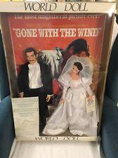 1989 World Doll Gone With The Wind Display Set Rhett Butler & Scarlett O' Hara