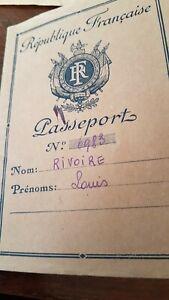 1947 Vintage document Ancien passeport republique francaise