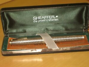 Vintage Boxed Sheaffer Stirling Silver Fountain Pen With 14ct Sheaffer Gold Nib