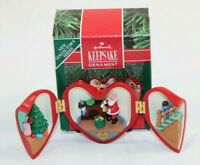 "Hallmark Keepsake Ornament 1990 ""Heart Of Christmas"" # 1 In Series  With box"