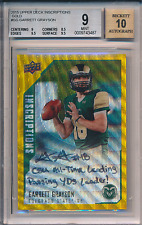 2015 Upper Deck Inscriptions Gold Auto /10 Garrett Grayson BGS 9 9.5 Sub 10 Auto